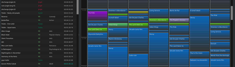 Detail of a scheduler panel in the Firefly application